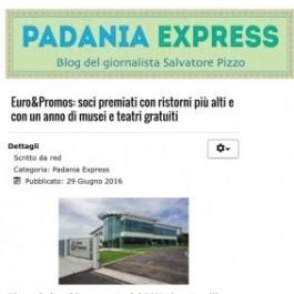 Euro&Promos;: soci premiati con ristorni più alti e con un anno di musei e teatri gratuiti.