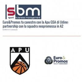 Euro&Promos; fa canestro con la Apu GSA di Udine: partnership con la squadra neopromossa in A2