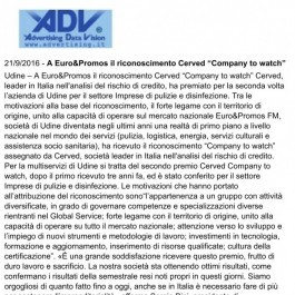 "A Euro&Promos; il riconoscimento Cerved ""Company to watch"""