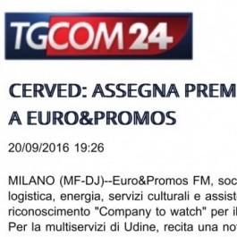 Cerved: assegna premio a Euro&Promos;