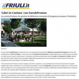 'Libri in Cantina' con Euro&Promos;