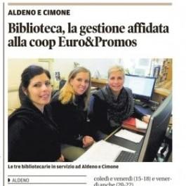 Biblioteca, la gestione affidata alla coop Euro&Promos;