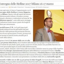 Convegno delle Stelline 2017 Milano 16-17 marzo
